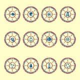 Marine symbols grunge Stock Image