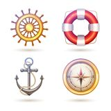Marine Symbols Set Fotos de Stock Royalty Free