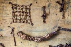 Marine Symbols sulla parete Immagini Stock Libere da Diritti