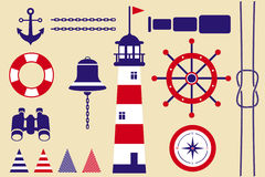 marine symbols Royalty Free Stock Photos