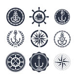 Marine symbols on a white background Royalty Free Stock Photography