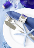 Marine table setting Stock Photo