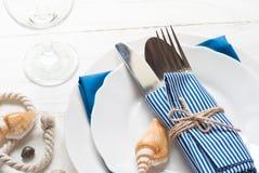 Marine table setting Stock Photography