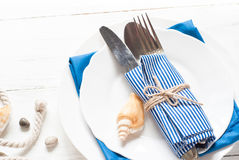 Marine table setting Royalty Free Stock Images