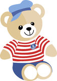 A marine Teddy bear Royalty Free Stock Photography