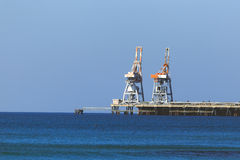 Marine terminal in Mediterranean sea, Israel, Cesaria Stock Photo