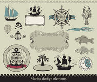 Marine theme stock illustration
