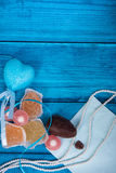Marine theme blue background Royalty Free Stock Images