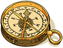 Marine theme, compass Royalty Free Stock Photo