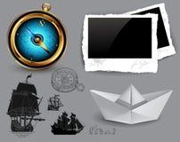 Marine theme icons set Royalty Free Stock Photos