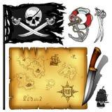 Marine theme icons set Stock Image