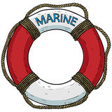 Marine theme, lifebuoy Royalty Free Stock Photos