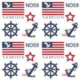 Marine theme pattern background Royalty Free Stock Image