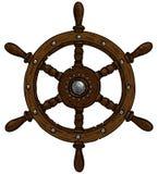 Marine theme, steering wheel Stock Image