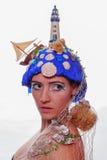 Marine themed fashion headdress Royalty Free Stock Photos