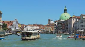 Marine tours in Italy, vaporetto sailing Grand Canal in Venice, sightseeing tour. Stock footage stock video footage