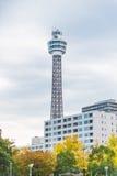 Marine Tower i yokohama Royaltyfri Fotografi