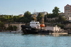 Marine tug MB-174 in the Bay Black Sea. Royalty Free Stock Images