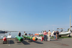 Marine underwater weapons Stock Photos