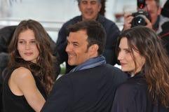 Marine Vacth & Francois Ozon & Geraldine Pailhas Royaltyfri Fotografi