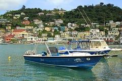 Marine van St George op Grenada Stock Afbeeldingen
