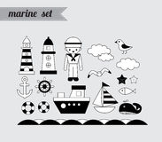 Marine vector set Stock Images