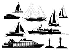 Marine Vehicles and Objects Stock Photo