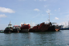 MArine vessels parking in bali, Indonesia Royalty Free Stock Photos