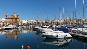 Marine view. Msida malta morning walk spectacular view Stock Photo