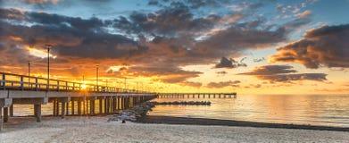 Free Marine Walking Pier In Palanga, Lithuania Stock Images - 111779134