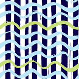 Marine wave pattern. Seamless marine wave pattern with intersecting lines Royalty Free Stock Photography