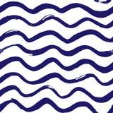 Marine wave pattern. Seamless marine wave pattern. Vector illustration Royalty Free Stock Photography