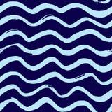 Marine wave pattern. Seamless marine wave pattern. Vector  illustration Stock Photography