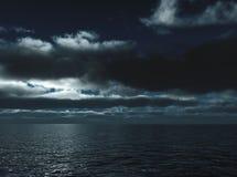 Marine waves in night Royalty Free Stock Image