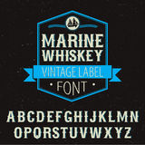Marine Whiskey Label Font Poster Royaltyfria Foton