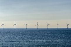 Marine wind farm Royalty Free Stock Image