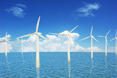 Marine and wind power stations Royalty Free Stock Photo