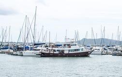 Marine Yacht Club i Pattaya på Thailand Royaltyfria Foton