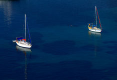 Marine with yachts, Corfu Royalty Free Stock Images