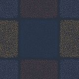 Marineblauw Abstract Geo-Krabbel Vierkant Net vector illustratie