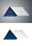 Marineblauw piramidediagram Royalty-vrije Stock Afbeelding