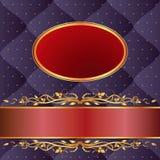 Marineblauwe en kastanjebruine achtergrond Royalty-vrije Stock Fotografie