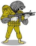 Marinedichtung mit Gewehr Stockbilder