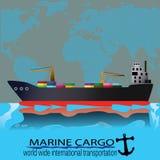 Marinefracht Lizenzfreies Stockbild