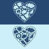 Marinegegenstände in Form eines Herzens EPS10 Stockfotos