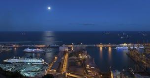 Marinehafen in Barcelona Stockfoto