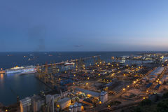 Marinehafen in Barcelona Lizenzfreie Stockfotografie