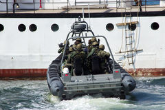 Marinehereinkommen Stockbild