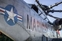 Marinehubschrauber lizenzfreies stockfoto