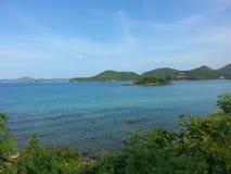 Marineisland. Island sea blurwater bluesky Royalty Free Stock Photography